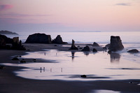 Oregon beach at sunset