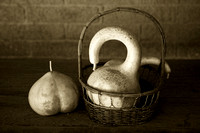 Gourds and basket